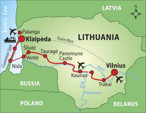 Cycling in Lithuania from Vilnius to Klaipda 9day selfguided