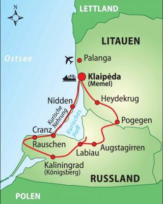 Kurische Nehrung Karte.Radtour In Litauen Und Russland Memelland Kurische Nehrung
